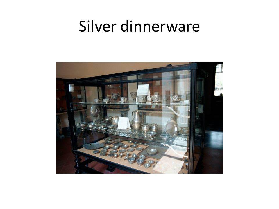 Silver dinnerware