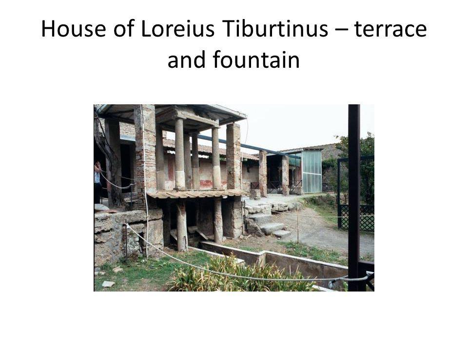House of Loreius Tiburtinus – terrace and fountain
