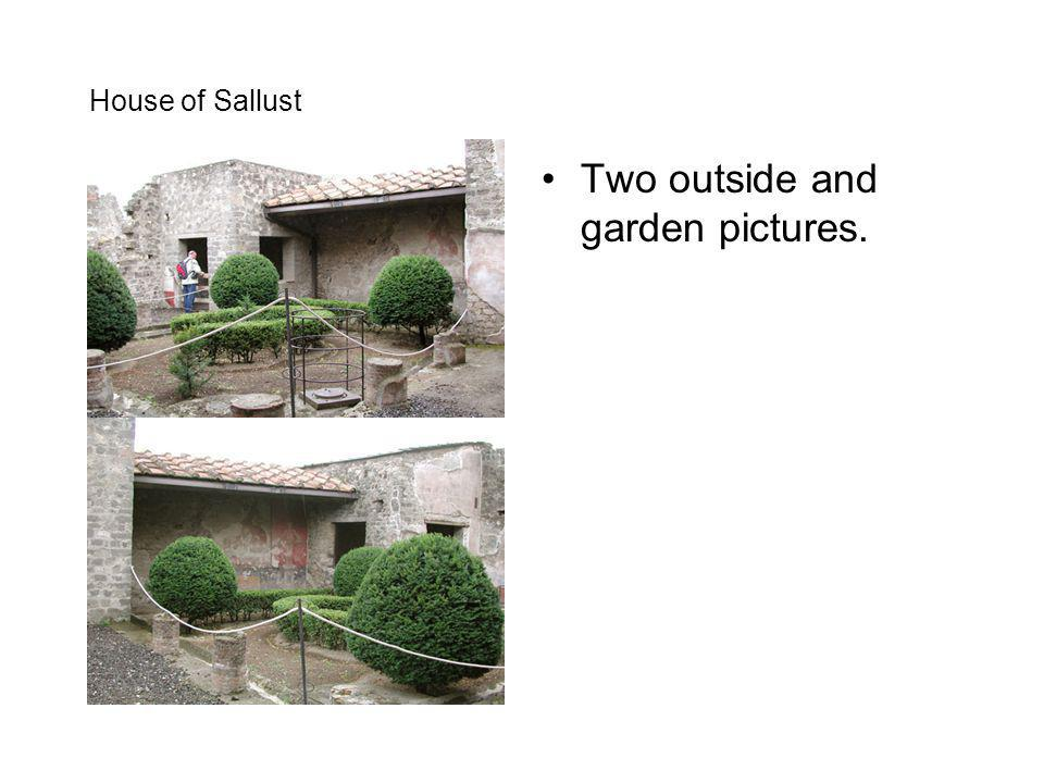 House of Sallust Two outside and garden pictures.
