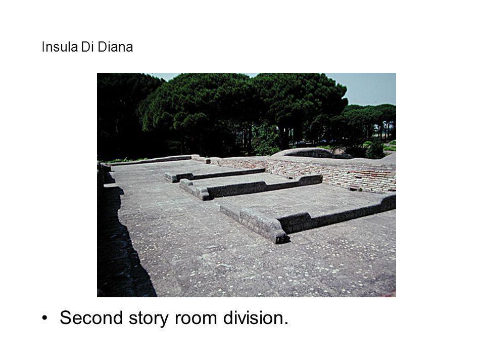 Insula Di Diana Second story room division.