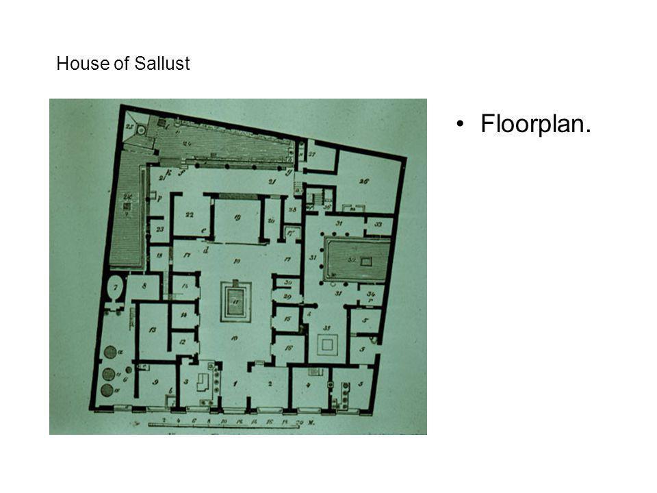 House of Sallust Floorplan.