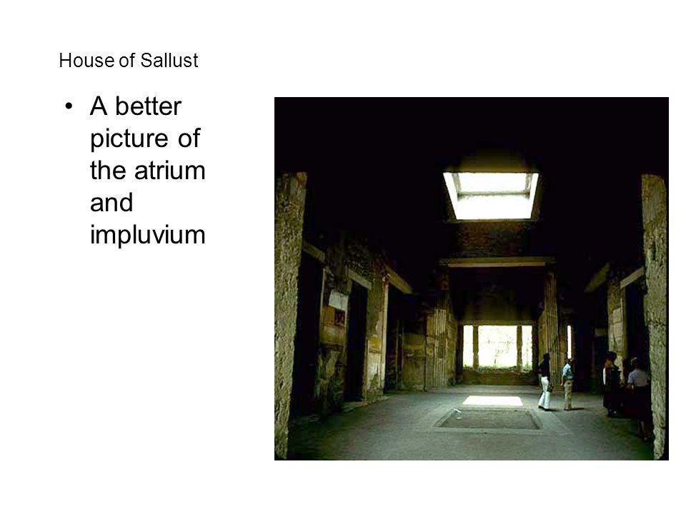 House of Sallust A better picture of the atrium and impluvium