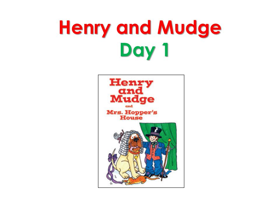Henry and Mudge Day 1