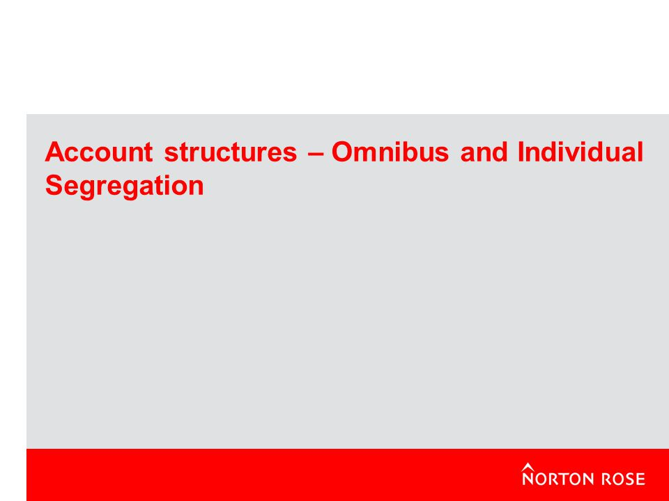 Account structures – Omnibus and Individual Segregation