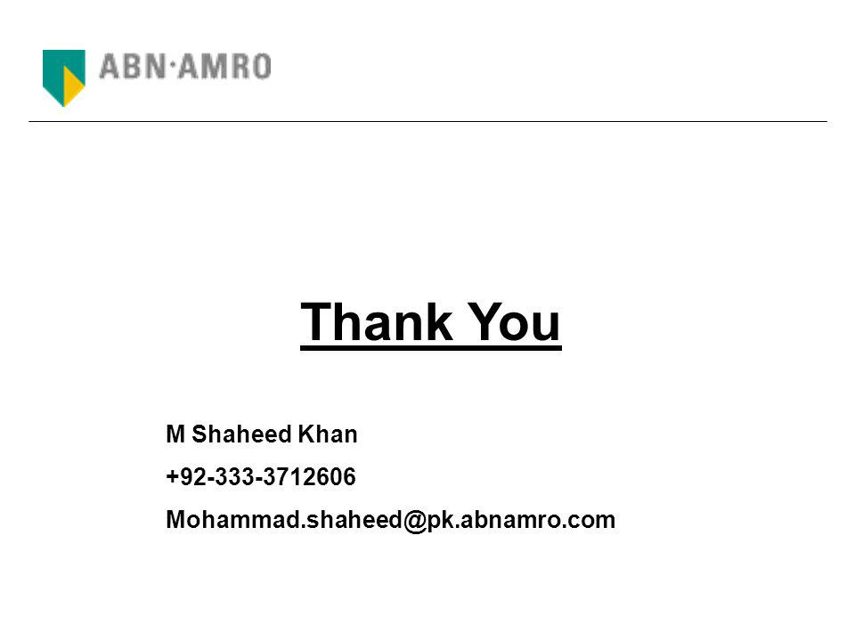 Thank You M Shaheed Khan