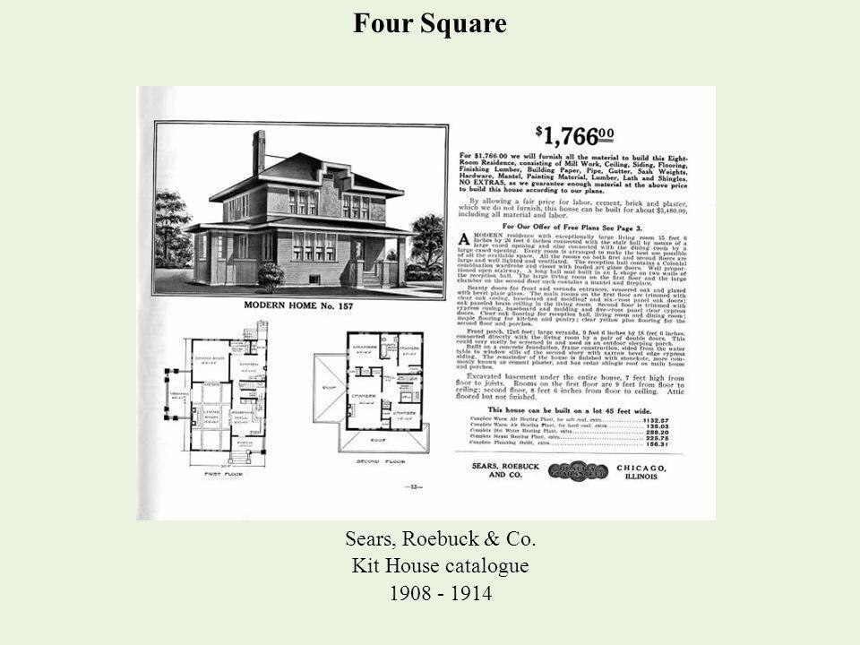 Four Square Sears, Roebuck & Co. Kit House catalogue 1908 - 1914