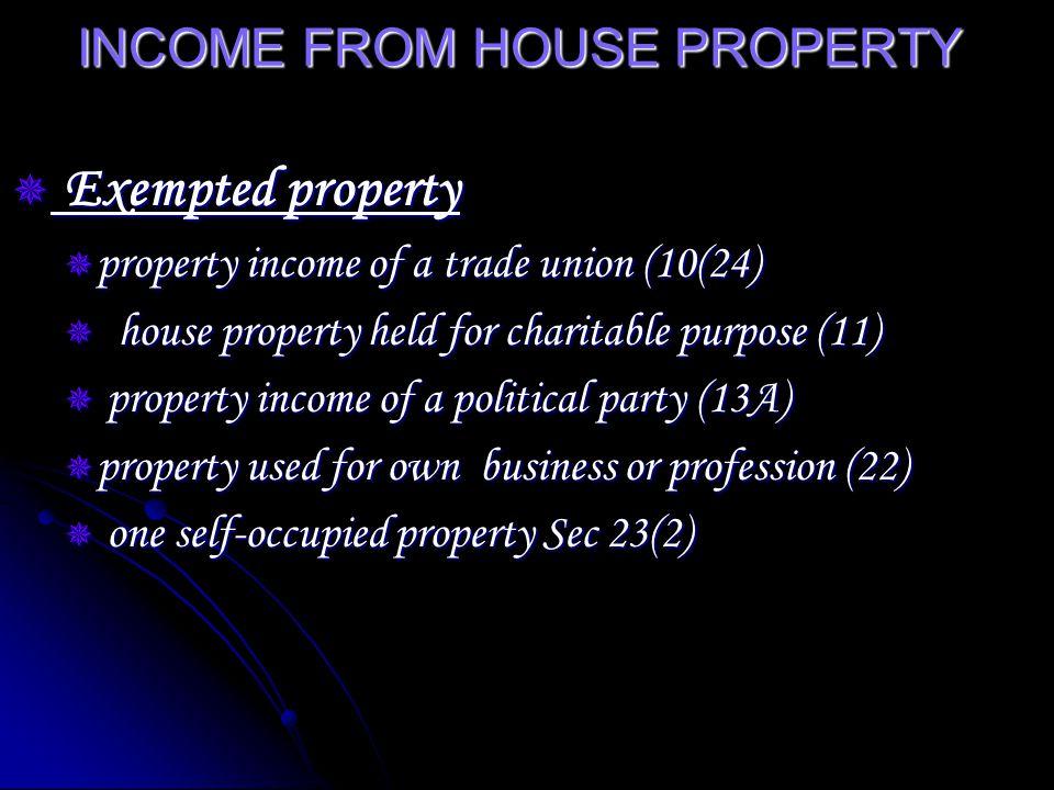 Deduction u/s 24 Standard deduction Standard deduction Interest on borrowed Interest on borrowed