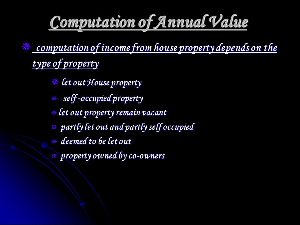 Question X owns a house property (municipal Valuation.