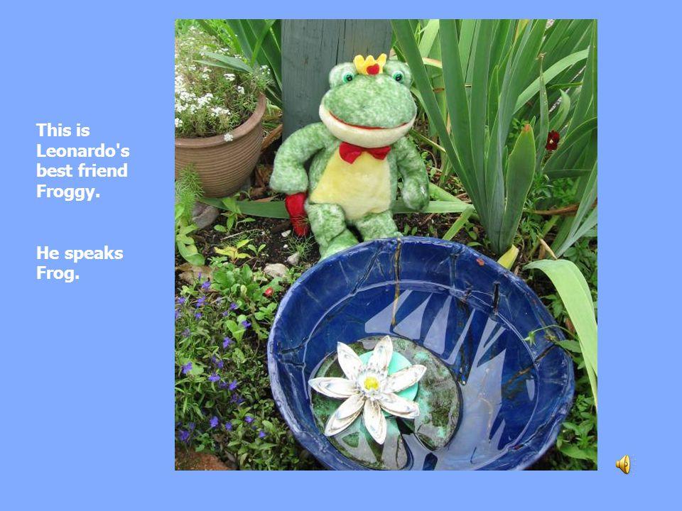 This is Leonardo s best friend Froggy. He speaks Frog.