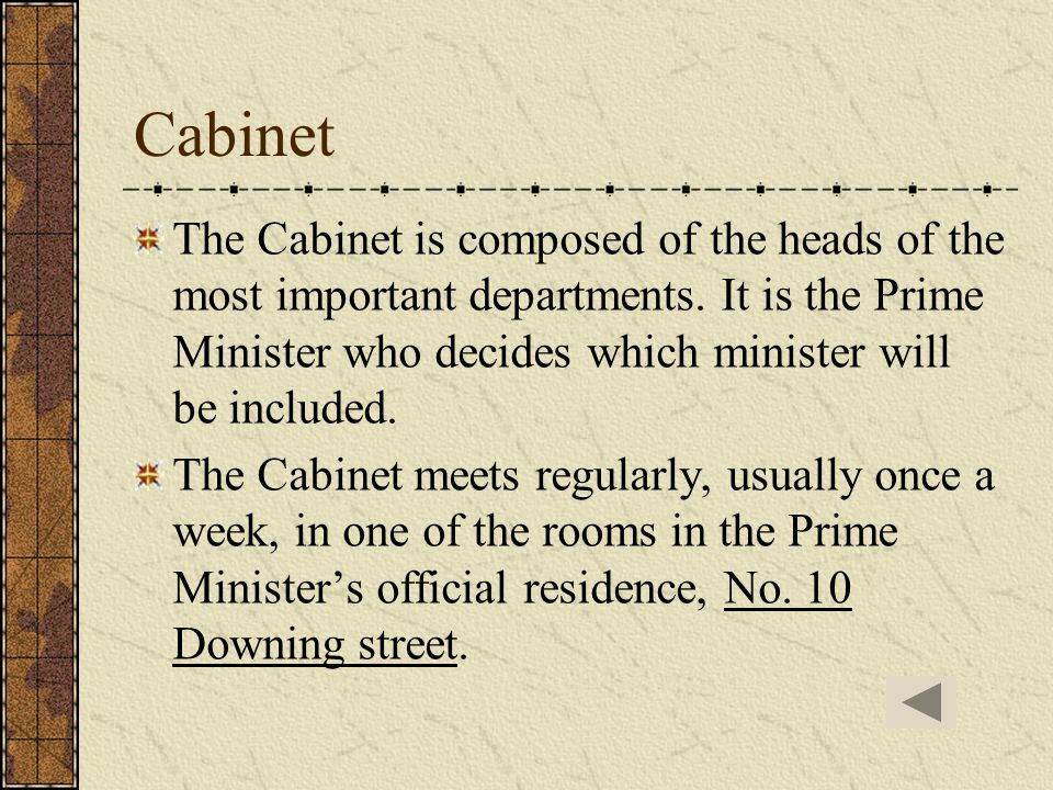 Prime Minister and the Cabinet The birth of the Cabinet The birth of the Prime Minister