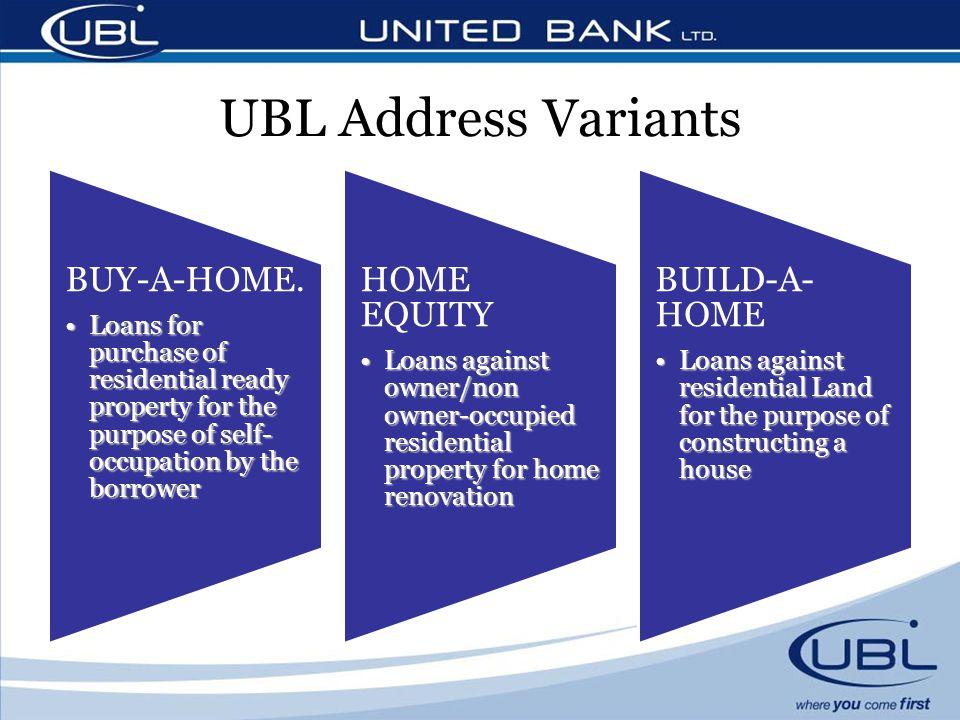 UBL Address Variants BUY-A-HOME.