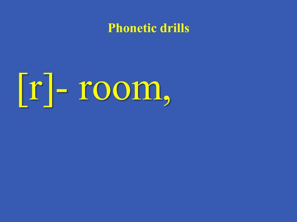 Phonetic drills [t]- TV – set,
