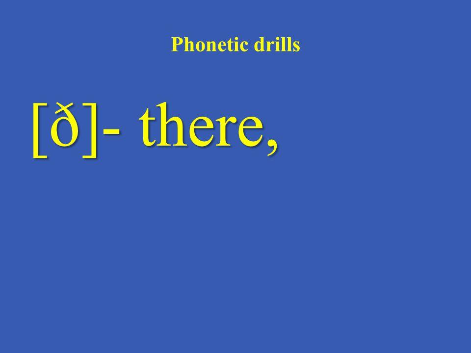 Phonetic drills [k]- desk,