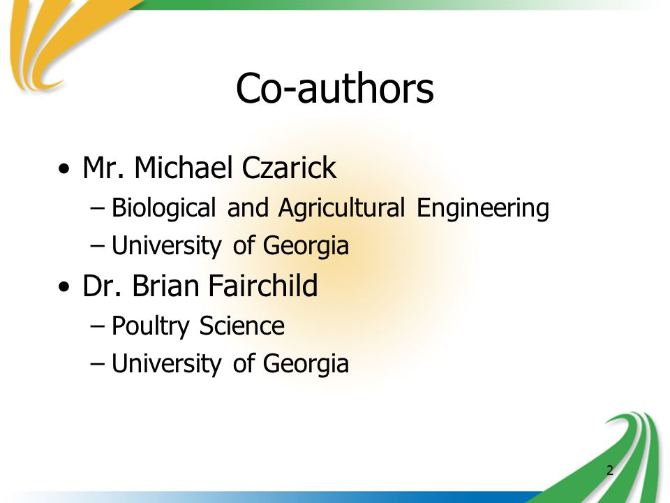 2 Co-authors Mr.