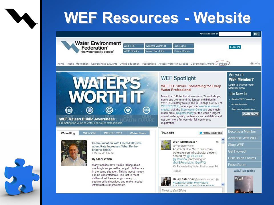 23 WEF Resources - Website