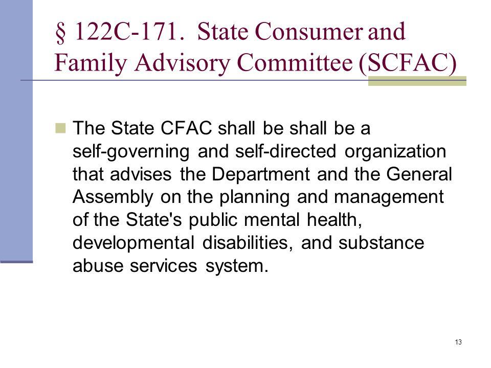 13 § 122C 171.