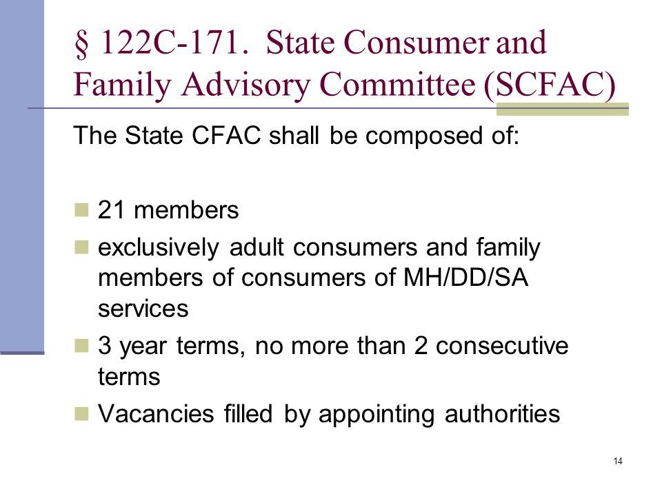 14 § 122C 171.