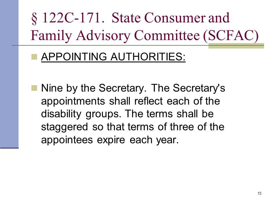 15 § 122C 171.