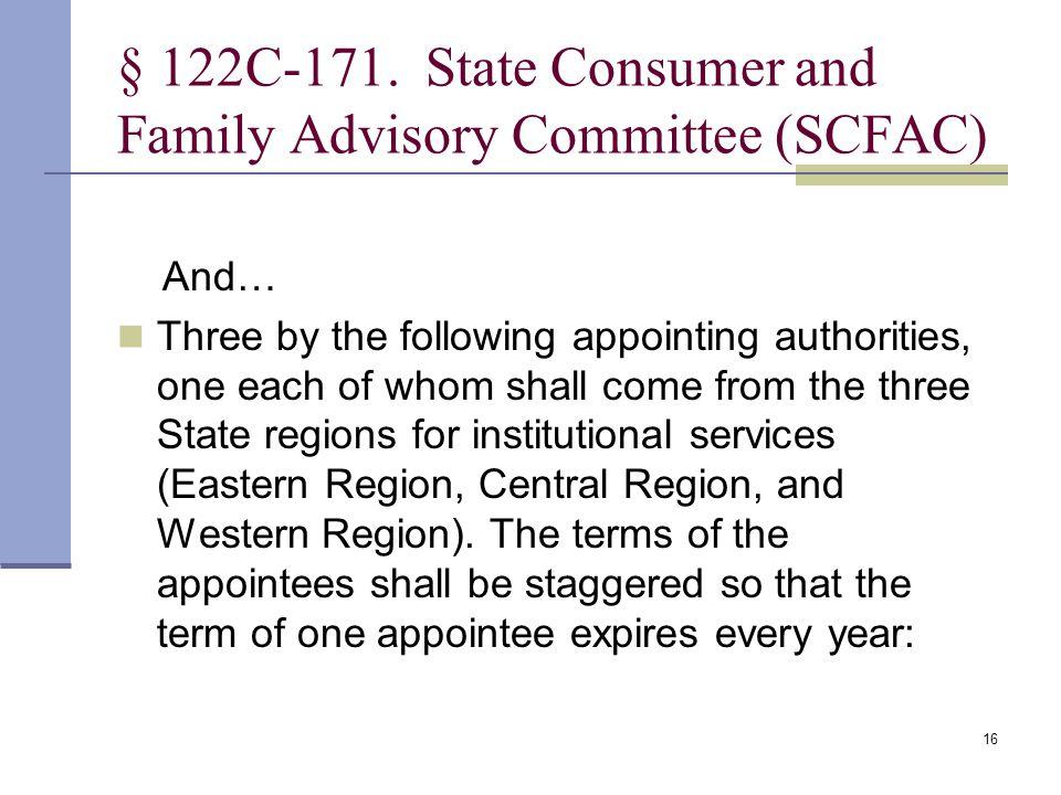16 § 122C 171.