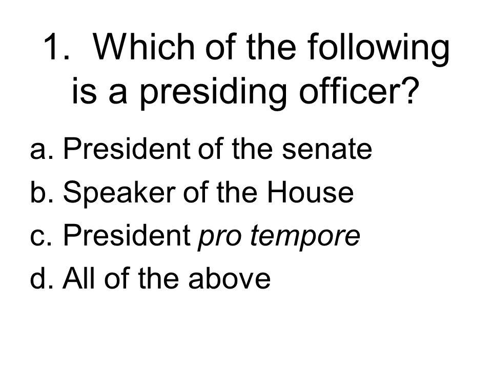 Section 1 Congress Organizes