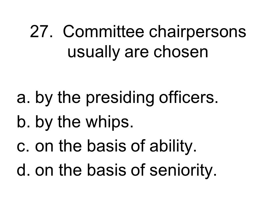 26. How and when bills reach the floor of the House is decided by the a.Ways and Means Committee. b.Rules Committee. c.Appropriations Committee. d.Jud