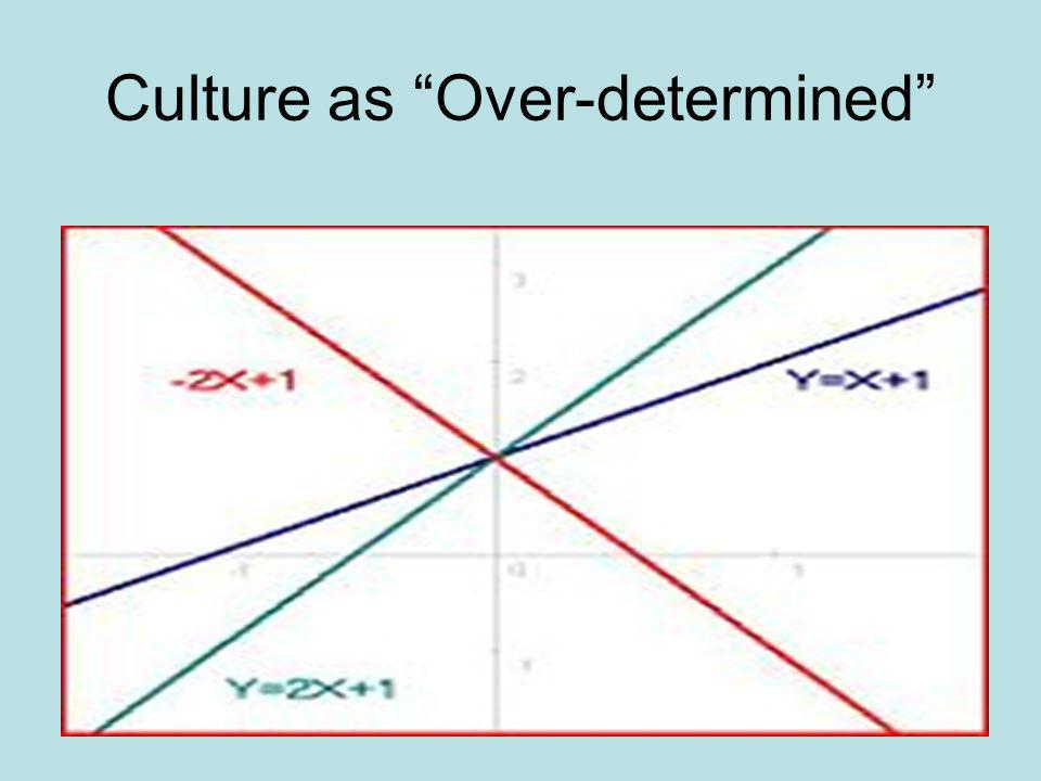 Culture as Over-determined