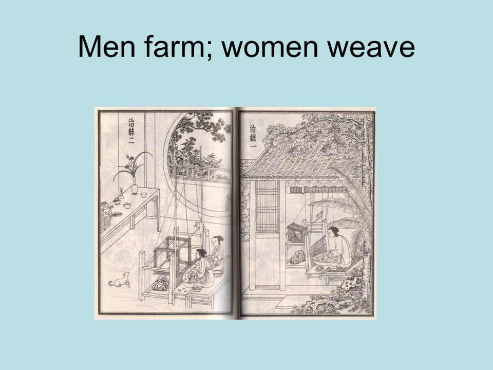 Men farm; women weave