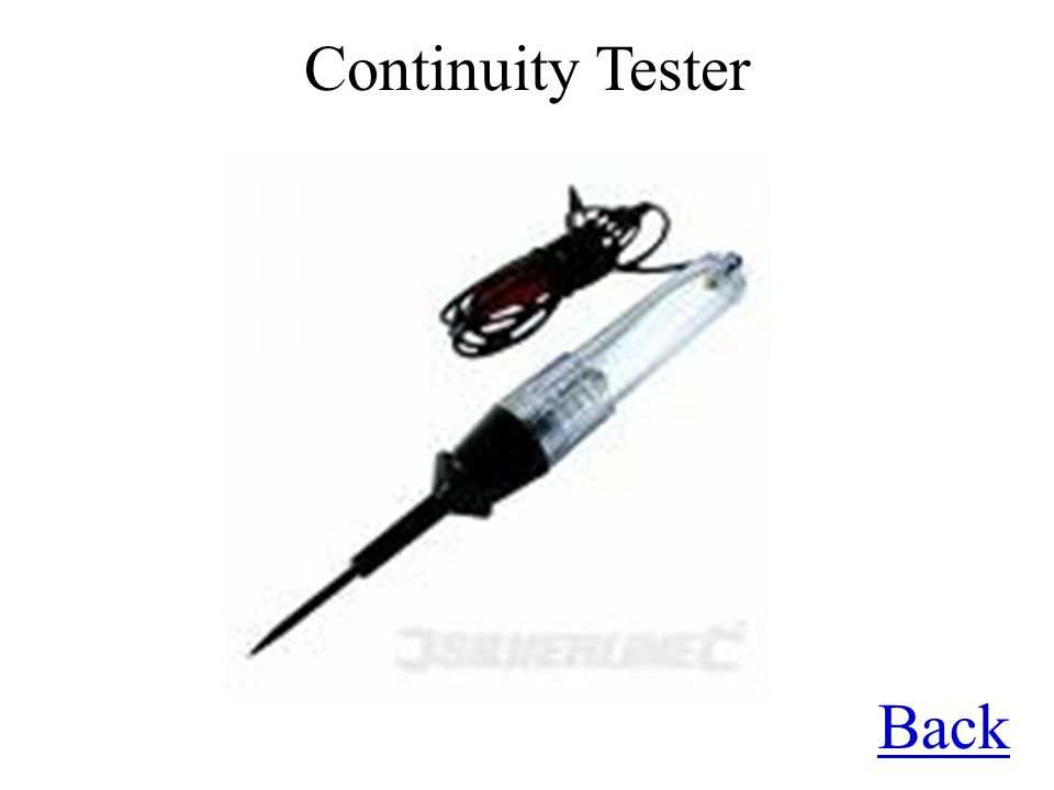 Back Continuity Tester