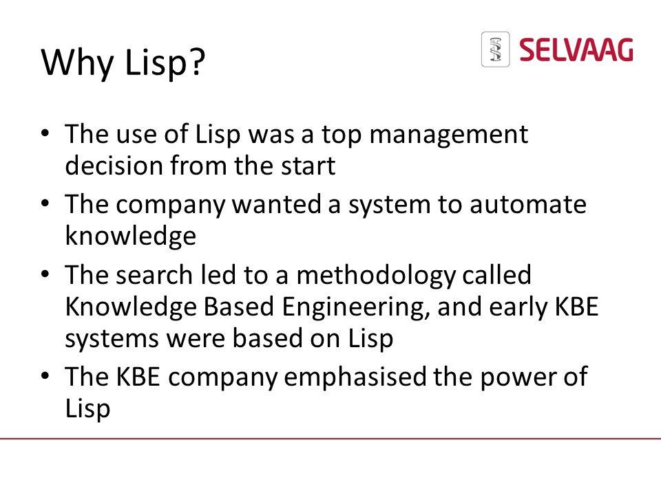 Why Lisp.