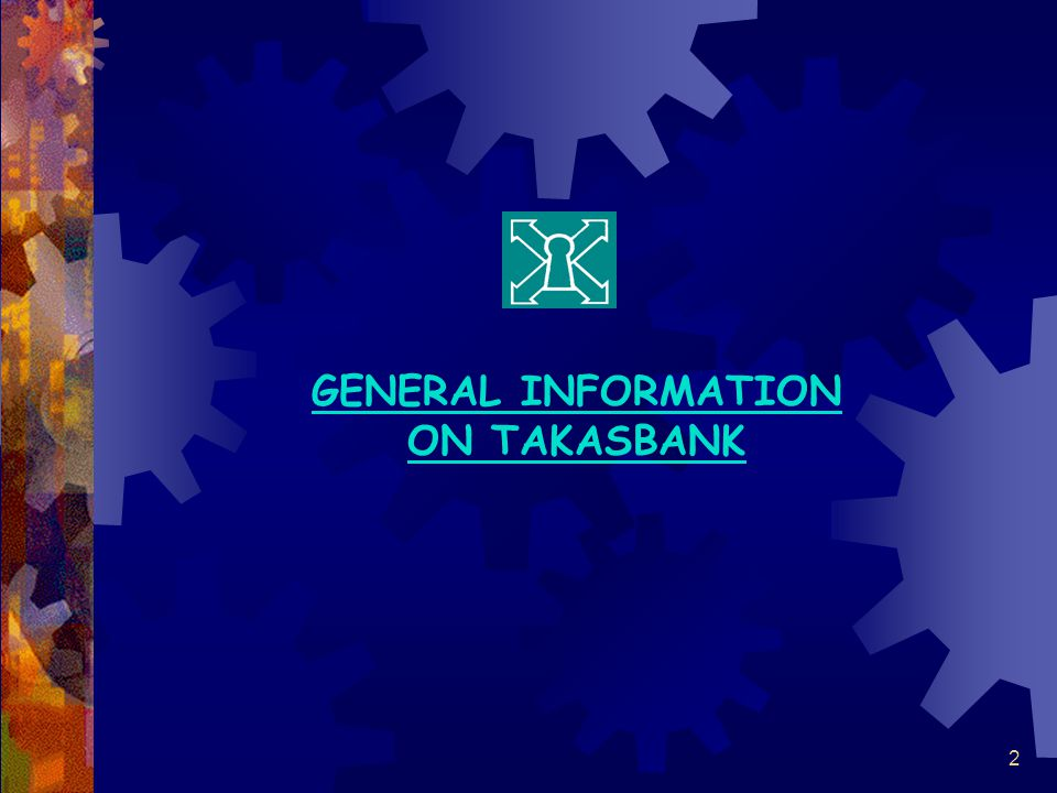 2 GENERAL INFORMATION ON TAKASBANK