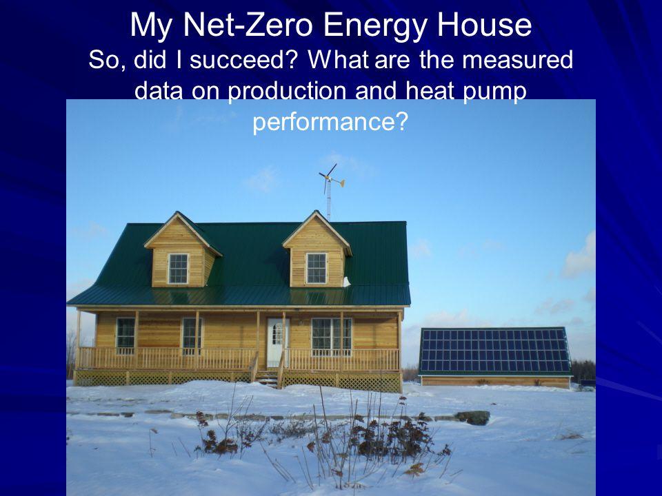 My Net-Zero Energy House So, did I succeed.