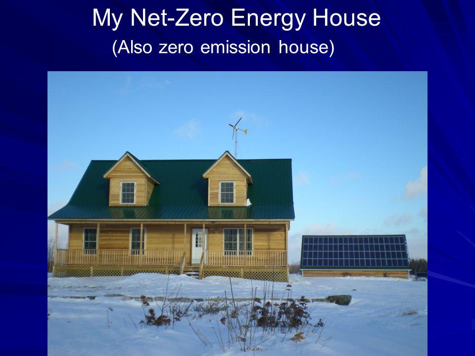 My Net-Zero Energy House (Also zero emission house)