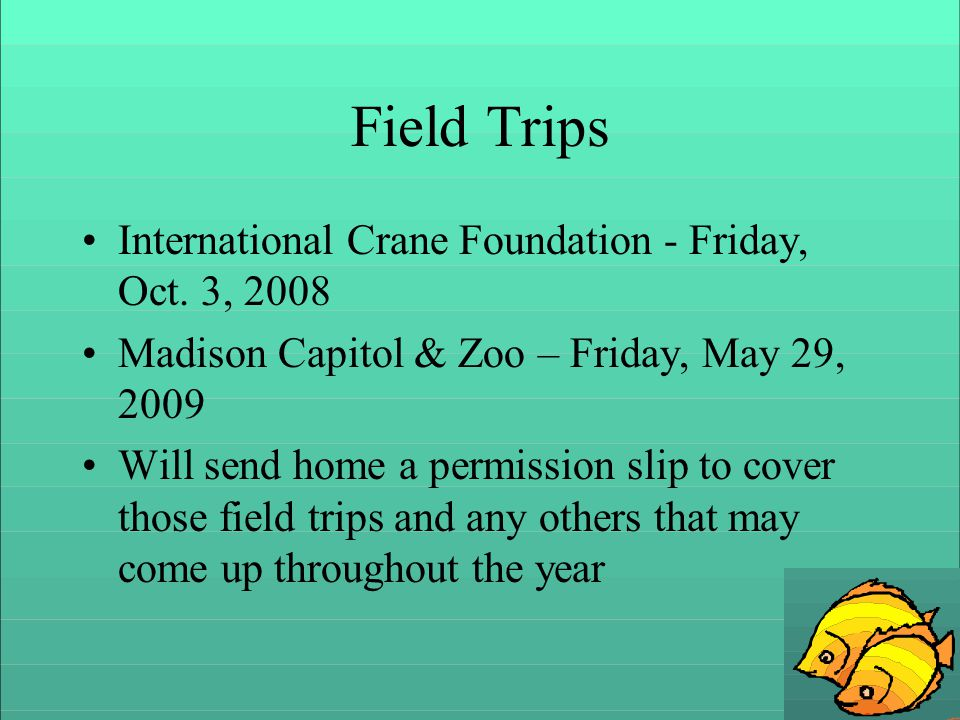 Field Trips International Crane Foundation - Friday, Oct.