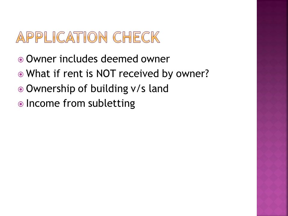 Transfer to spouse or minor child – An arrangement to live apart – Married minor daughter – Wife buys house with cash gifted Holder of impartible estate Property help as member of co-op society/company/AOP Property acquired under power of attorney transaction – u/s 53A of Transfer of Property Act Right in bldg acqd u/s 269UA(f) – Not LT 12 yrs