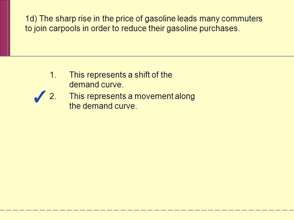 Check Your Understanding 3-3 Question 1 In the following three situations, the market is initially in equilibrium.