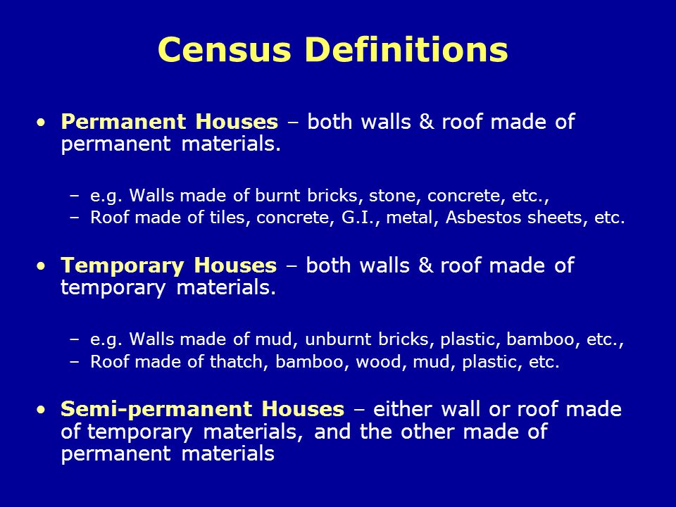 Eligibility Criteria (contd) Huts classified as –Eligible –Conditionally Eligible –Ineligible Determined by Enumeration Team.