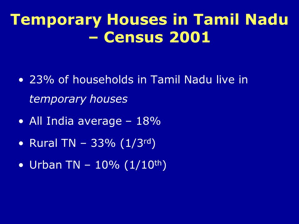 Enumeration Results CategoryNo.of Huts Total No.