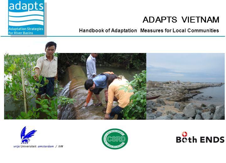 ADAPTS VIETNAM Handbook of Adaptation Measures for Local Communities
