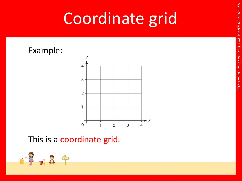 Maths Smart Grade 4 © 2012 Alston Publishing House Pte Ltd Example: This is a coordinate grid.