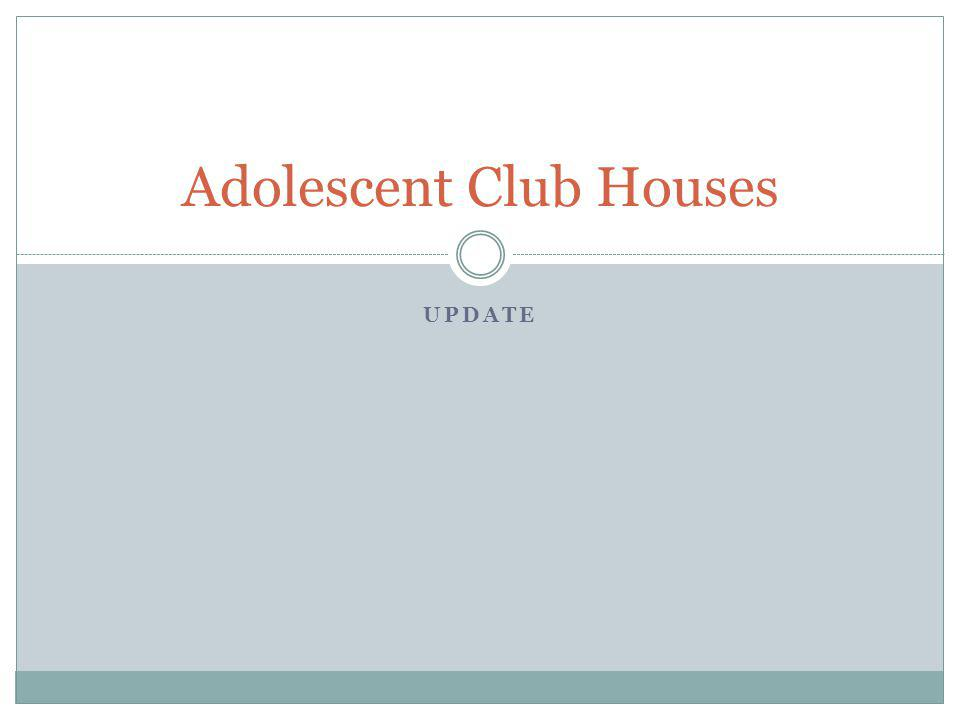 UPDATE Adolescent Club Houses