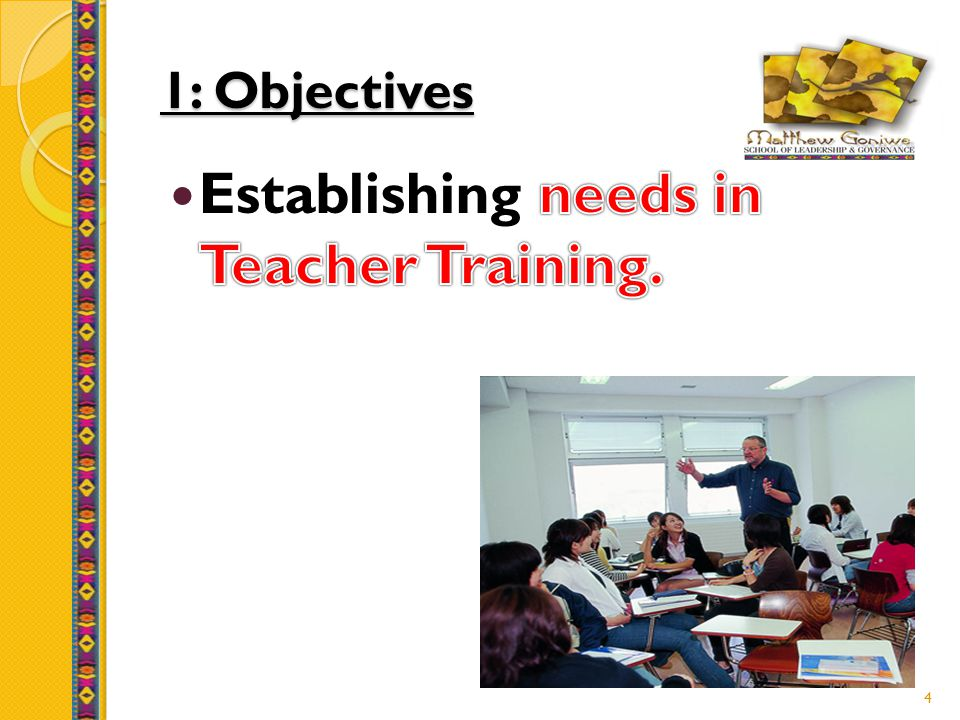 1: Objectives 4