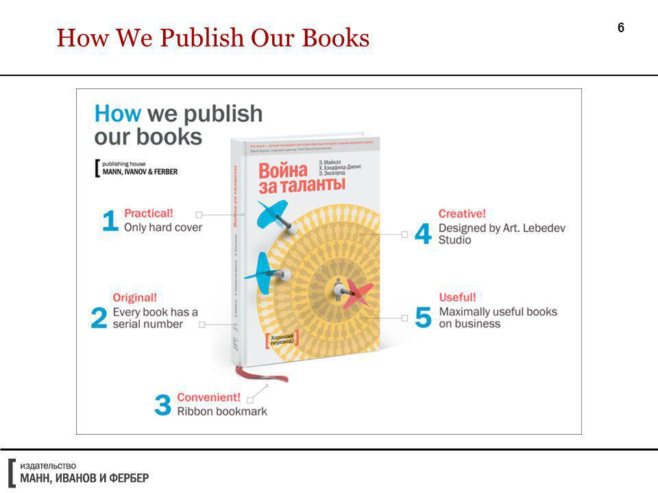 7 How We Publish Our Books (continued)