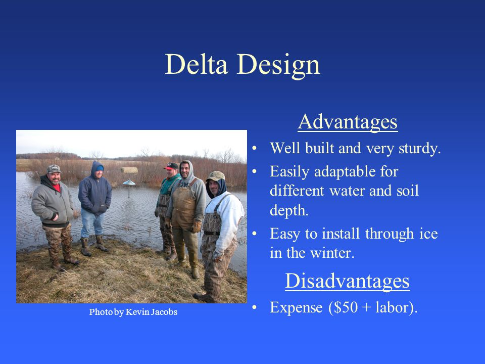 Delta Design Advantages Well built and very sturdy.