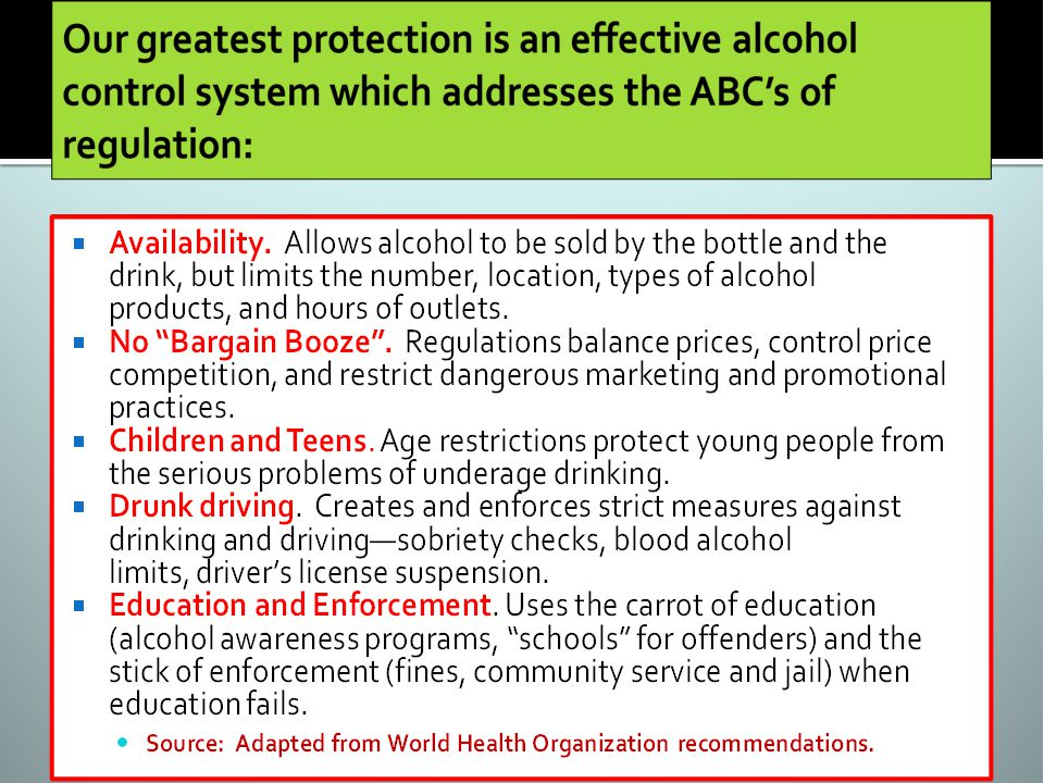 State regulatory systems meet the ABCs, but they are endangered Weve forgotten why we have alcohol regulation Free market advocates cry for deregulation