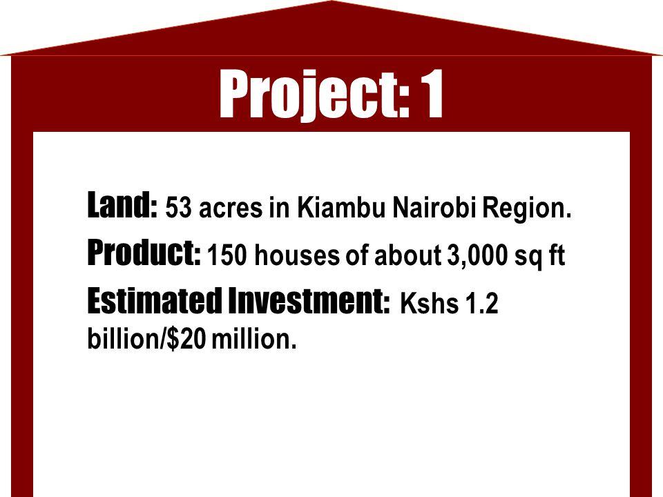 Project: 1 Land: 53 acres in Kiambu Nairobi Region.