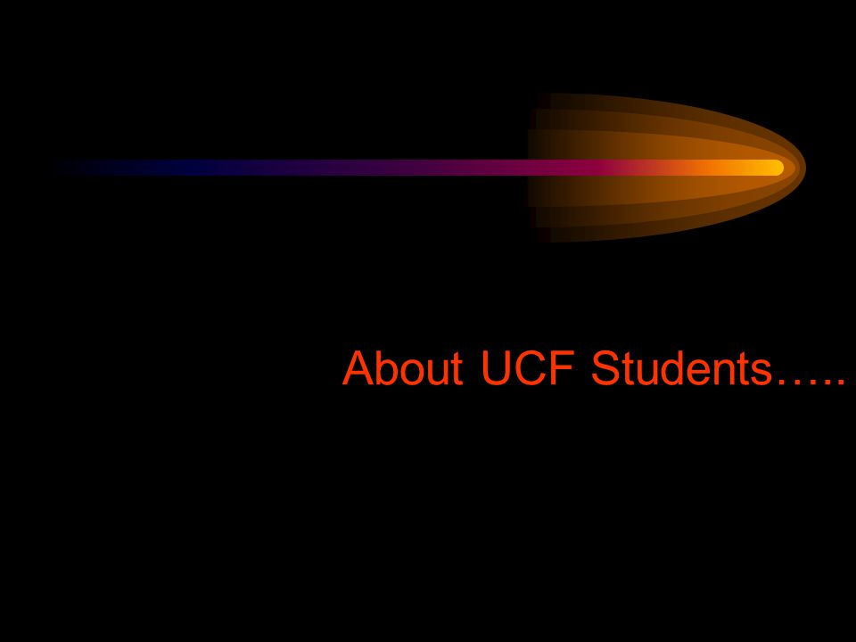 About UCF Students…..
