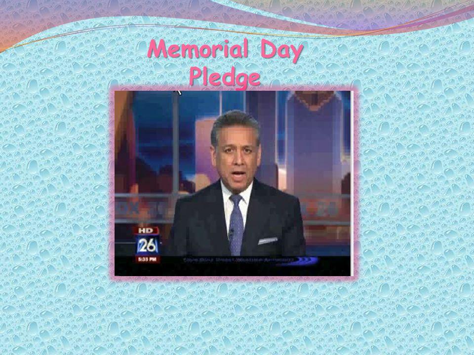 Memorial Day Pledge
