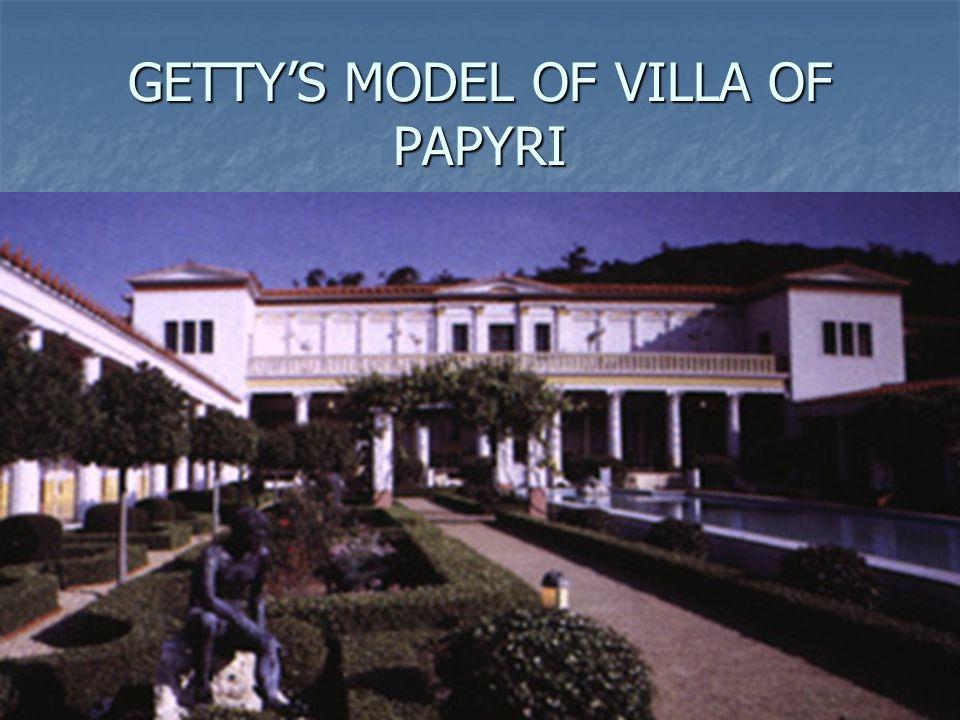 GETTYS MODEL OF VILLA OF PAPYRI