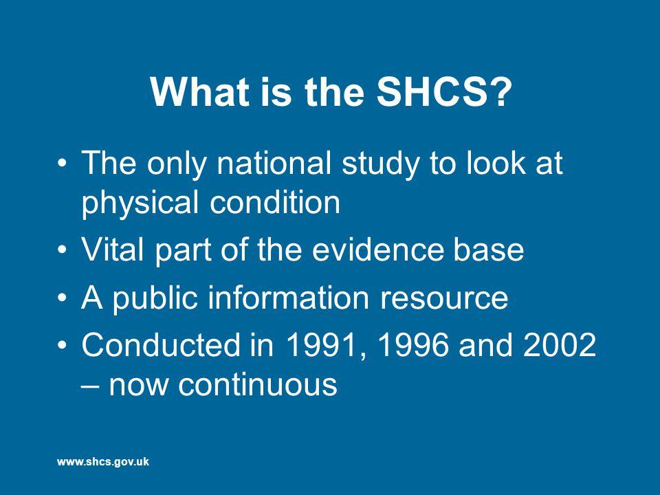 www.shcs.gov.uk What is the SHCS.