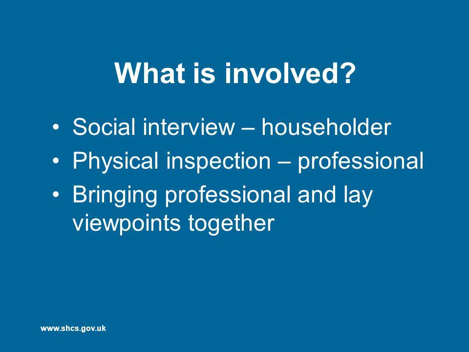 www.shcs.gov.uk What is involved.